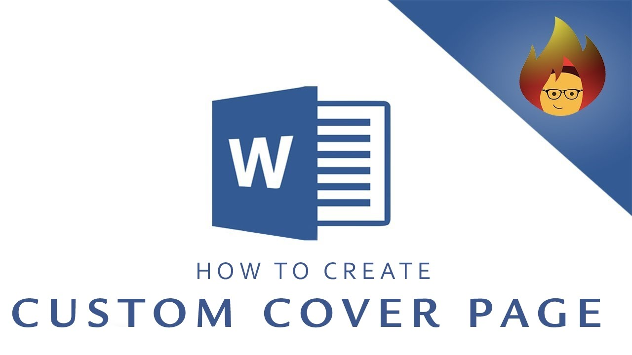 how to create a custom cover page microsoft word youtube