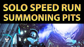 Planet Destiny: The Summoning Pits, SOLO Nightfall SPEED Run v.2