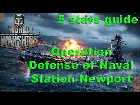 World of Warships - Operation Defense of Naval Station Newport 5 stars guide