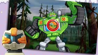 Трансформеры автоботы спасатели в городе ★ играет ТОБОТ