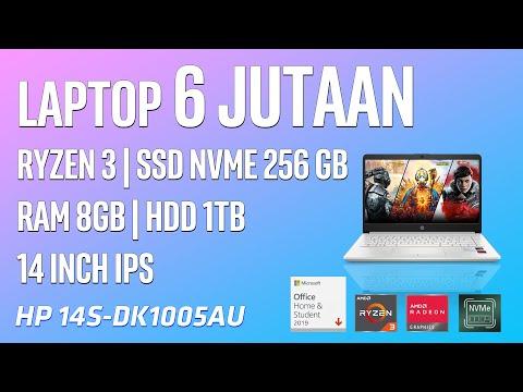 LAPTOP 6JUTAAN DAPAT RYZEN3 3250U SUDAH SSD NVME 256GB (HP 14S DK1005AU)