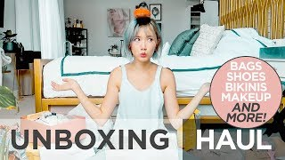 Unboxing Haul (Shoes, Bags, Bikinis and More!) | Camille Co