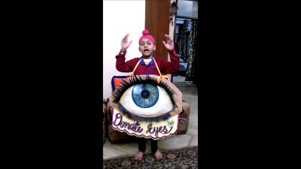 Fancy Dress competition on Eye Donation