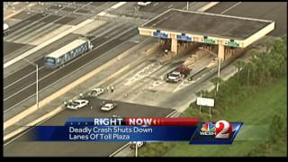 Fatal toll booth crash believed to be suicide