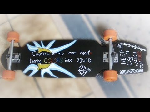 how to longboard deck selbst gestalten prinzessin leia youtube. Black Bedroom Furniture Sets. Home Design Ideas