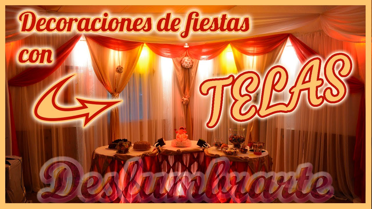 Decoraciones de fiestas y eventos con telas youtube for Decoracion de eventos