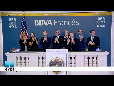 BBVA Banco Francés S.A Rings the NYSE Opening Bell