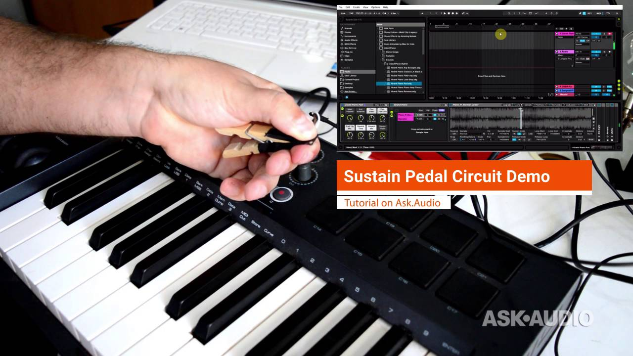 diy midi sustain pedal circuit youtube rh youtube com Damper Pedal for Keyboard Keyboard Sustain Pedal Gear On Stage