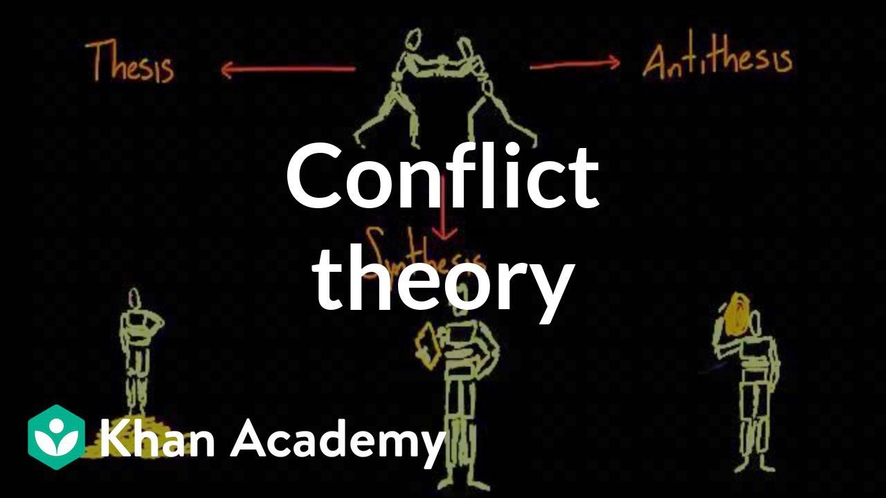 the conflict theory This paper will talk about what the conflict theory is, and who it was derived from it will also give, and explain an example of what the conflict theory pertains to.