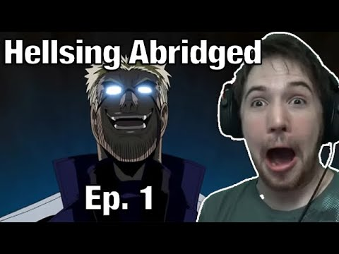 PUT MY HEAD IN YOUR BOOBS - Noble Reacts to  TFS  Hellsing Ultimate Abridged Episode 1