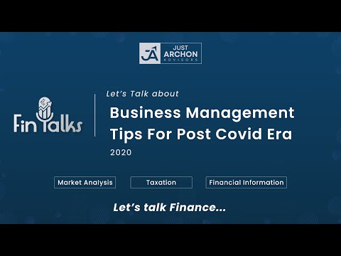 Business Management Tips For Post Covid Era | FinTalks - All about Finance