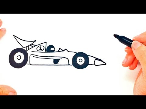 How to draw a Race Car step by step | Race Car Easy Draw Tutorial