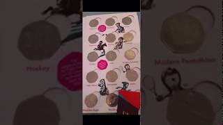 2011 Olympic Sports 50p Collection in Royal Mint Album (Coin Hunter Facebook Group - Member Video)