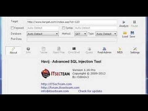 Havij sql injection tool free download.