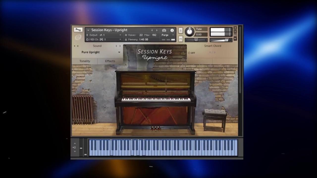 PIANOS PARA KONTAKT 2018 #1 Session Keys Upright Piano para KONTAKT