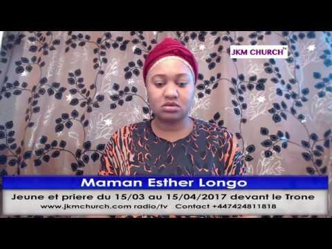 Maman Esther Longo la prière matinale du 21.03.2017