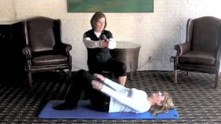 Golf Fitness Supine Bridge Glute Assessment
