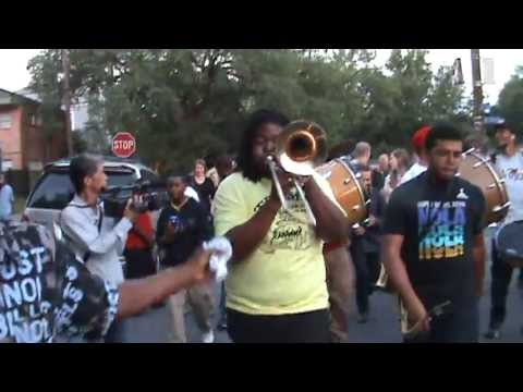 Tuba Fats Tuesday 2913 second line in Treme featuring New Breed Brass Band
