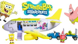 SpongeBob Airplane Air Bikini SpongeBob Plane Avión de Bob Esponja Play Dough Toy Videos