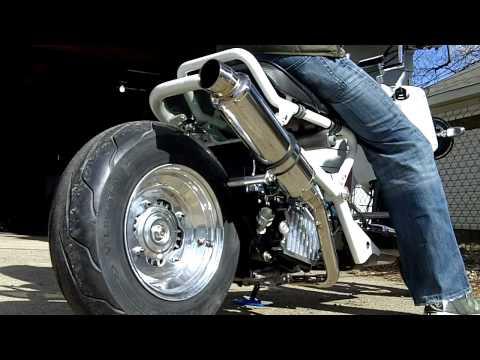 Honda Ruckus - BEAMS R-Evo Exhaust - Side View