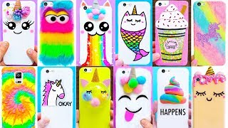 15 DIY UNICORN PHONE CASES | Easy & Cute Phone Projects & iPhone Hacks