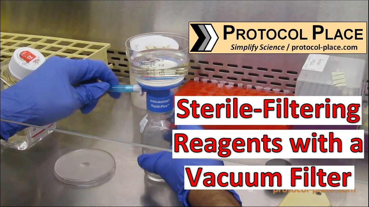 Sterile-Filtering Reagents with a Vacuum Filter