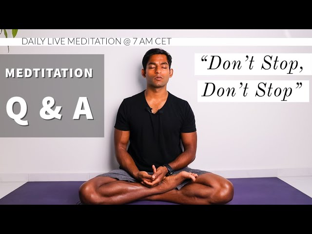 What next, how do I keep training my mind? | Meditation Q&A with Dhyanse