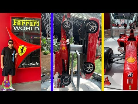 Ferrari World Abu Dhabi Full Explore with Ticket Cost and Rides !! 😍