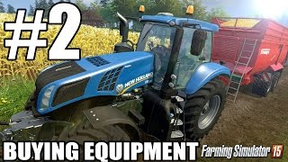Lets Play Farming Simulator 2015 - Episode 2 - Buying Equipment
