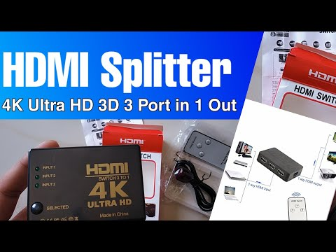 How To Use HDMI 3 TO 1 Switch To Connect With HDMI Device And Monitor ||Unboxing And Review
