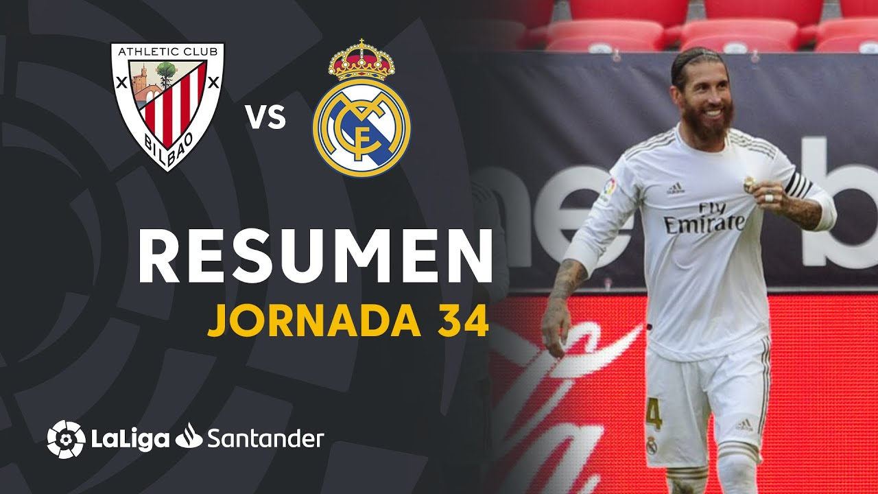 Resumen de Athletic Club vs Real Madrid (0-1)