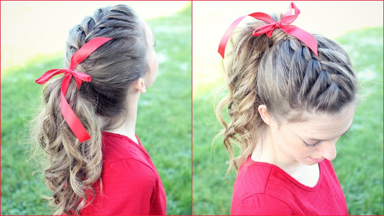 french braid ponytail hair