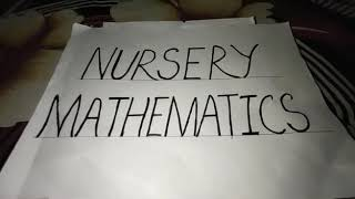 Nursery mathematics part 6
