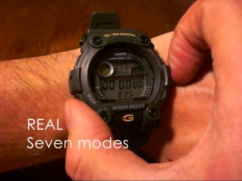25374eac6 G-Shock G-7900 fake vs real - YouTube