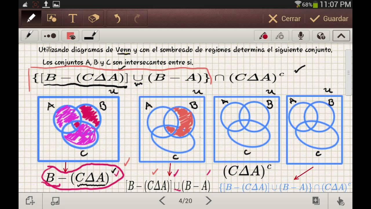 4 operaciones entre conjuntos y diagramas de venn youtube operaciones entre conjuntos y diagramas de venn matemticas dinmicas miss astrid ccuart Image collections