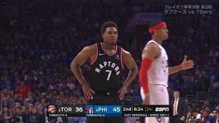 シモンズのラウリーへの肘打ち // ラプターズ対76ers - GAME3 20190503