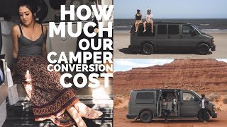 How Much Our Campervan Conversion Cost ( Under $1,000 )