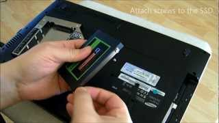 Installing an OCZ Agility 3 SSD in a laptop as a 2nd hard drive.