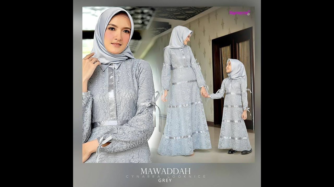 Model Dress Brokat Baju Muslim Brokat