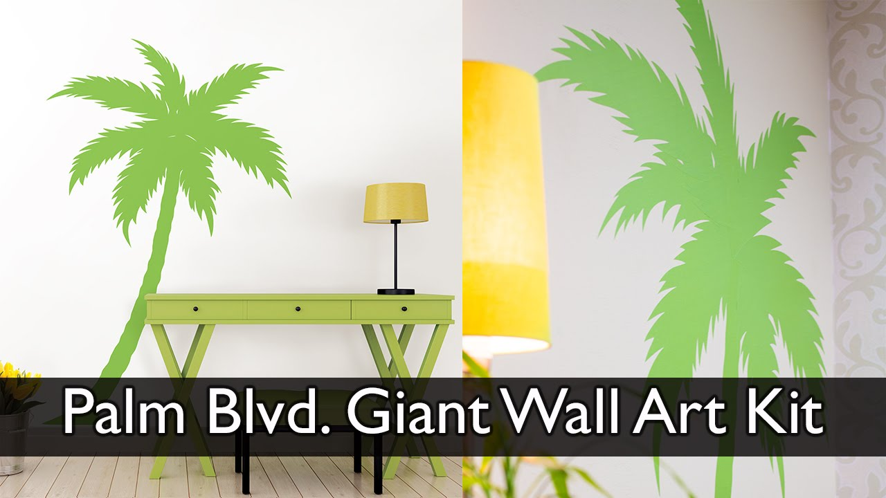Palm Tree Wall Decal - YouTube