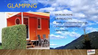 GLAMPING-Trailer vom Terrassen Camping Ossiacher See