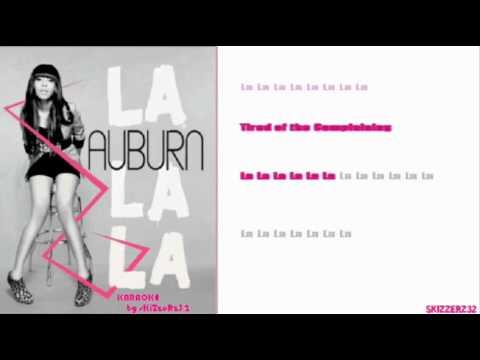 Auburn - La La La Official Karaoke/Instrumental[WIDESCREEN]HQ
