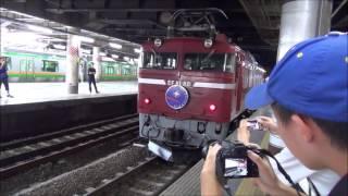 カシオペア紀行青森行き 上野駅13番線発車 推進回送有り