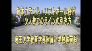 ソフトボール投げ 少人数でのライン引き 埼玉大学教育学部附属小学校