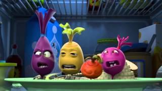 Прикольный мультик «Овощная вечеринка» - Река Слез (5 серия)
