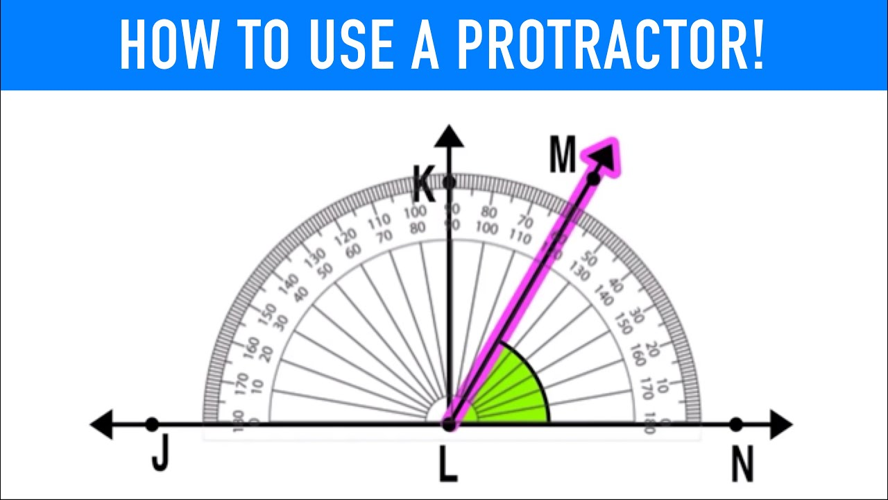 hight resolution of HOW TO USE A PROTRACTOR TO MEASURE ANGLES! - YouTube