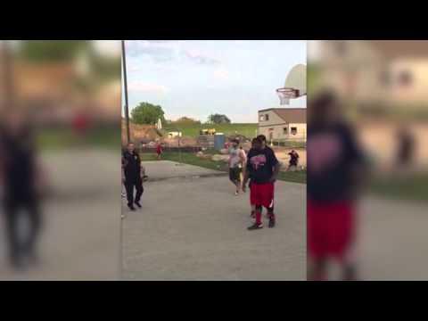 Police Playing Streetball