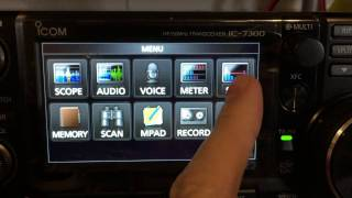 icom ic 7300 swr meter graph function how to by zmx