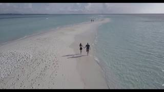 Beautiful Views Of A  Beach Vacation With A Camera Drone