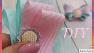 Чудесные летние бабочки🦋очень просто😍нежные бантики из репсовых лент за 5 минут/kanzashi/ribbon Bow
